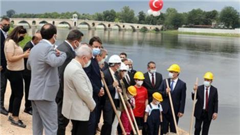 Edirne'de 'Üç Nehir Bir Şehir' projesinin temeli atıldı
