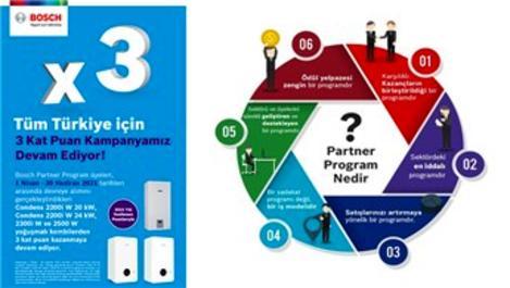 Bosch Partner Program'dan 3 Kat Puan Kampanyası