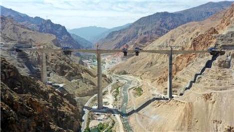 Türkiye'nin en yüksek ayaklı 2. viyadüğü ekimde açılacak