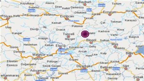 Bingöl'de 5.2 büyüklüğünde şiddetli deprem!