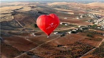 Göbeklitepe'de sıcak hava balonu sezonu açıldı