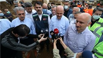 Bakanlar Soylu, Kurum ve Karaismailoğlu Rize'de afet bölgesinde!