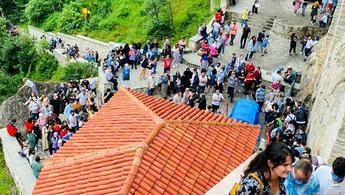 Sümela Manastırı'nı Kurban Bayramı'nda 8 bin kişi ziyaret etti