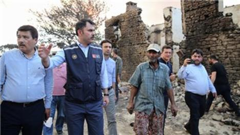 Bakan Kurum, Manavgat'taki yangın alanını inceledi!