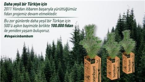 Bambum, 100 bin fidan dağıtıyor