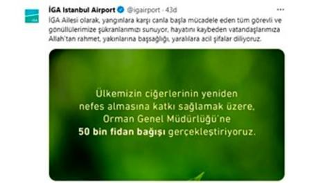 İGA'dan Orman Genel Müdürlüğü'ne 50 bin fidan bağışı!