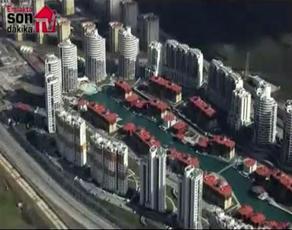 Bosphorus City'nin havadan görüntüsü