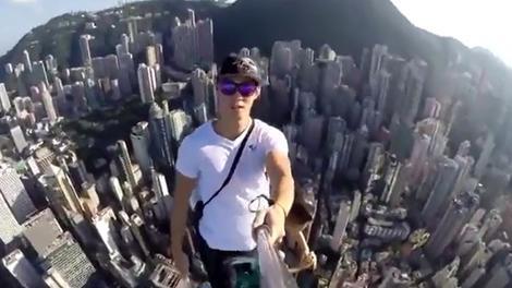 346 metrelik gökdelenin tepesinde selfie çılgınlığı