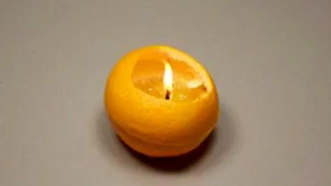 Portakaldan mum nasıl yapılır?