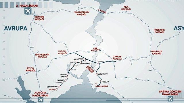 İşte Büyük İstanbul Tüneli'nin durakları!