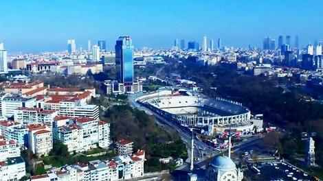 Beşiktaş Vodafone Arena'ya gökyüzünden bakın!