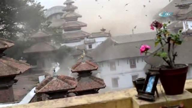 Nepal depremi işte böyle görüntülendi!