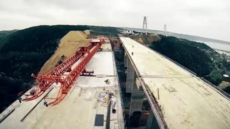 3. Köprü'nün viyadükleri böyle inşa ediliyor!