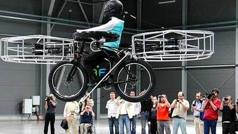 Uçan bisikletin tanıtımı yapıldı!