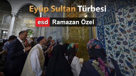 Yenilenen Eyüp Sultan Türbesi'nden çok özel kareler!