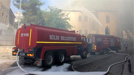 Kilis Müzesi'nde çıkan yangın söndürüldü!