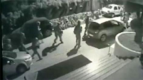 Erdoğan'ın kaldığı otele saldırının görüntüleri ortaya çıktı!