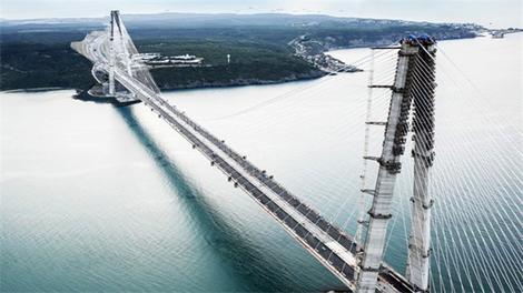 Yavuz Sultan Selim Köprüsü'nün havadan görüntüleri!