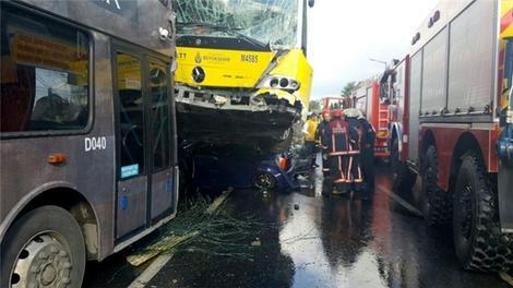 İşte metrobüs kazası sonrasında yaşananlar!