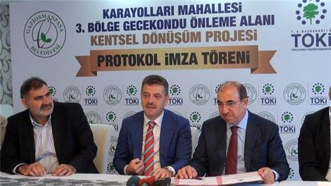 TOKİ ile Fuzul, Gaziosmanpaşa'da imzaları attı!