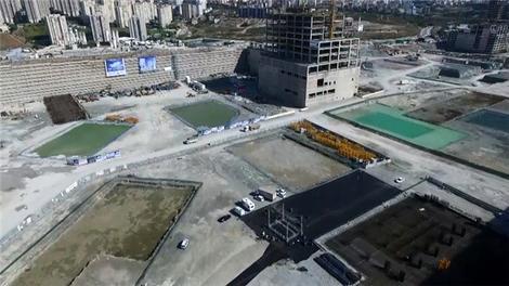 İstanbul Finans Merkezi havadan görüntülendi