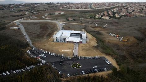 Midwood İstanbul Film Stüdyo Kompleksi havadan görüntülendi