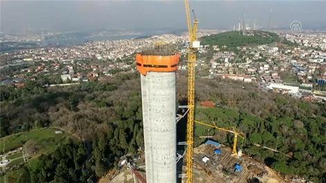 Küçük Çamlıca TV-Radyo Kulesi hızla yükseliyor