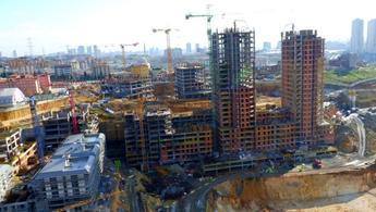 Ayazma Emlak Konutları'nın inşaatından görüntüler