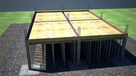 Betonarme bina inşaatın animasyonlu yapımı!