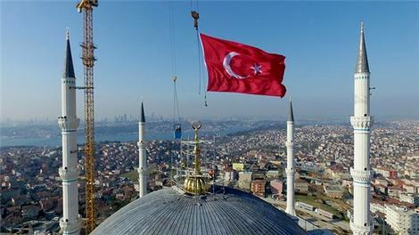 'Çamlıca Camisi'nin inşaatı yüzde 80 tamamlandı'