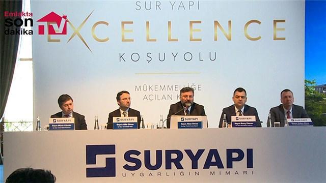 Sur Yapı Excellence Koşuyolu basın lansmanı yayında!