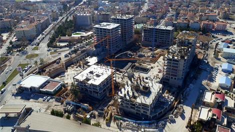 Nevşehir Emlak Konutları şantiyesinde son durum havadan görüntülendi!