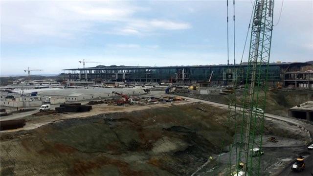 3. Havalimanı'nın şantiyesinde çalışmalar son hız devam ediyor