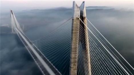 Yavuz Sultan Selim Köprüsü sisler içinde!