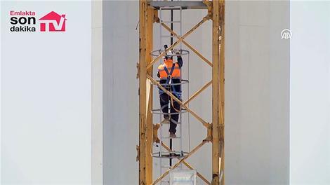 Çamlıca Camisi'nde 150 metre yüksekte çalışıyor!