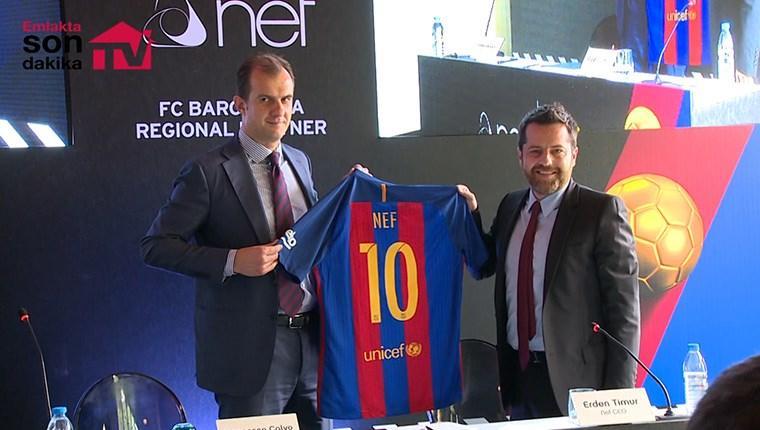 Nef ile Barcelona, sponsorluk için imzaları attı!