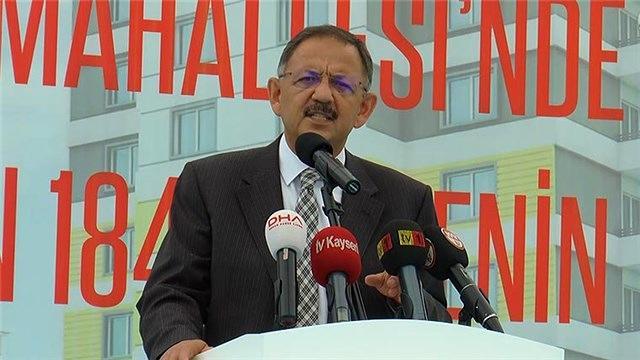 Mehmet Özhaseki, kentsel dönüşümü değerlendirdi!