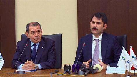 Dursun Özbek ve Murat Kurum, Riva ihalesini değerlendirdi!