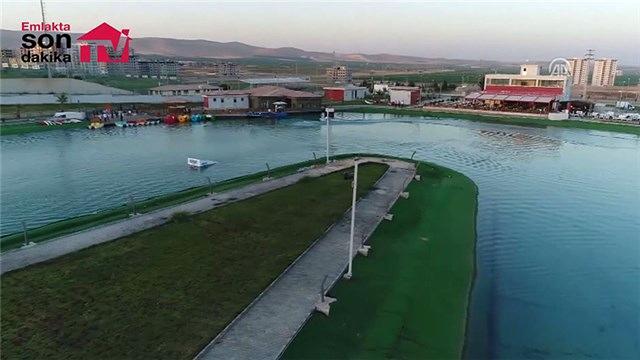 Şanlıurfa halkı su parkıyla serinliyor