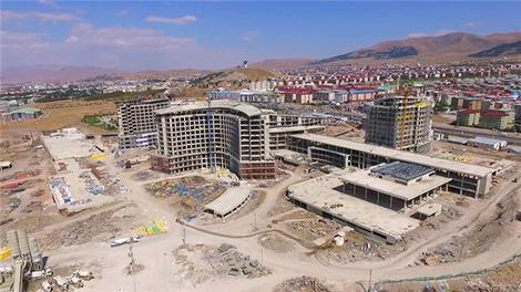 Erzurum Şehir Hastanesi havadan görüntülendi!