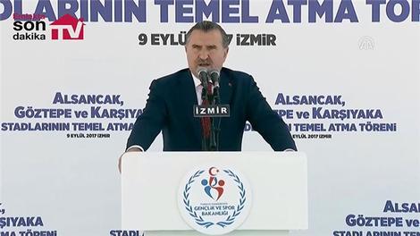 Alsancak, Göztepe ve Karşıyaka statlarının temel atma töreni gerçekleşti