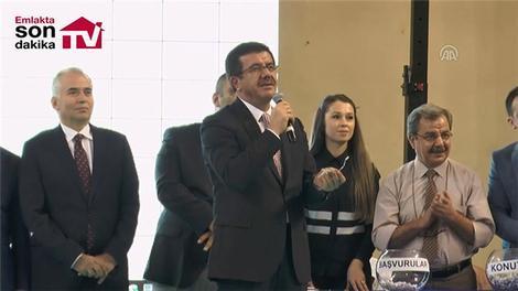 Ekonomi Bakanı Zeybekci, TOKİ kura törenine katıldı