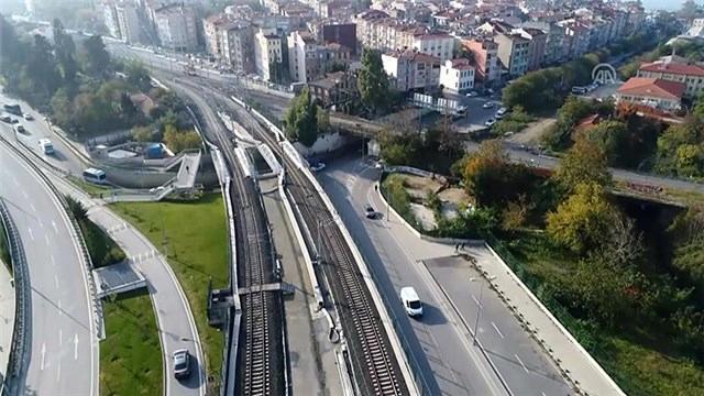 Gebze-Halkalı banliyö hattı havadan görüntülendi!