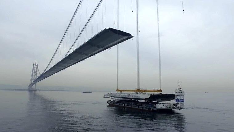 Osmangazi Köprüsü işte böyle tamamlandı!