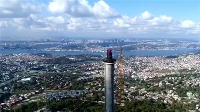 Çamlıca TV-Radyo Kulesi inşaatında son durum!