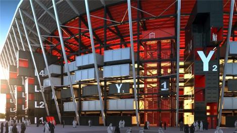Dünyanın ilk sökülüp takılabilen stadyumu!