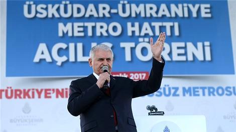 Başbakan Üsküdar-Ümraniye metrosu açılış töreninde konuştu