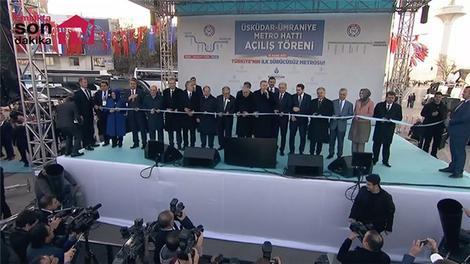 Cumhurbaşkanı Üsküdar-Ümraniye metro hattının açılışını yaptı!