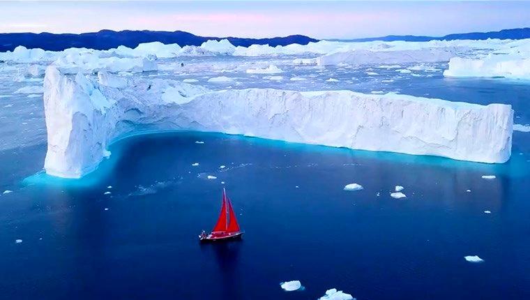 Grönland'da muhteşem buzul manzarası!