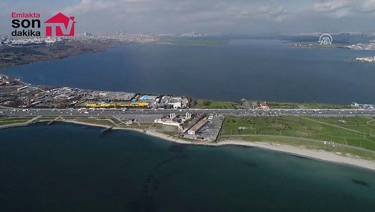 Kanal İstanbul'un sahadaki son sondajı havadan görüntülendi